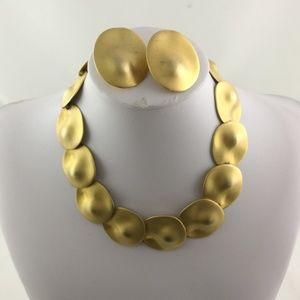 Gold Color Necklace and Earning set